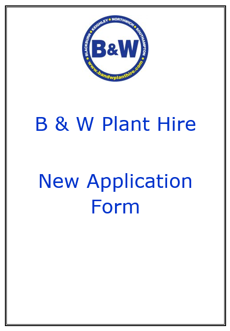 B & W New Application form